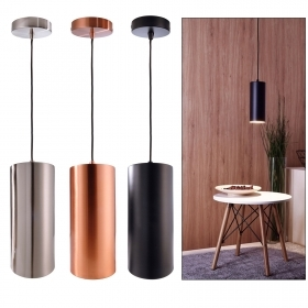 Modern chandelier E27 pendant cylinder LED 10W light table living room bar 230V