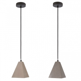 Pendant cement LED lamp 10W chandelier stone E27 light table cuisine 230V