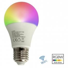 Bulb smart WiFi LED lamp E27 RGB 2700K color therapy Amazon Google