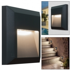 Spotlight segnapassi square light vertical wall, the wall avenue steps 4000K IP65