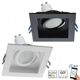 LED spotlight square recessed 9cm lamp GU10 WiFi 5W light RGB cromotherapy 230V