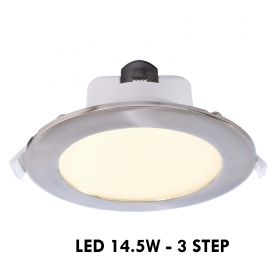 Spotlight panel built-63mm 3-step LED 15W 3-in-1 led ceiling lighting input: 230V