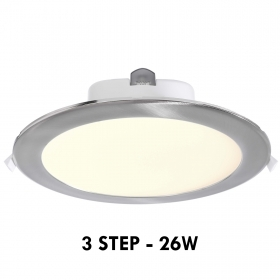 Panel LED 26W 3 step wall recessed round 19cm light interior ceiling shop 230V