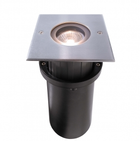 Spotlight driveway recessed floor square LED 8W GU10 parking IP67 230V