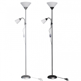Floor lamp LED floor lamp 2 lights