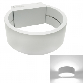Applique modern circle LED COB 6W light lamp wall white aluminium 200V