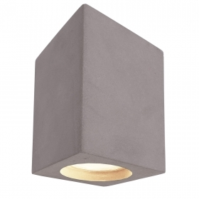 Square LED ceiling light gray concrete stone ceiling 8W GU10 ceiling 230V