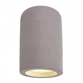 Round ceiling lamp LED ceiling light gray concrete 8W GU10 ceiling 230V