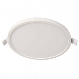 Modern spotlight LED panel recessed 10cm round 8W interior light 3000K ceiling