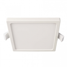 Square recessed spotlight 120x120mm LED panel 8W interior ceiling light 230V