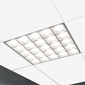 60x60cm 55W slim recessed LED panel with 400W office ceiling light 6000lm