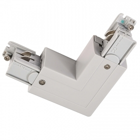 Corner connector rail three phase coupling connection L