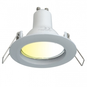 5W GU10 multifunction WiFi recessed LED spotlight with adjustable light from 2700K to 6500K