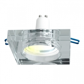 Square recessed LED spotlight SMART lamp WiFi CCT GU10 light from 2700K to 6500K
