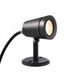 4W RGB LED spotlight + 2700K multicolored light for shop windows and garden IP65 24V
