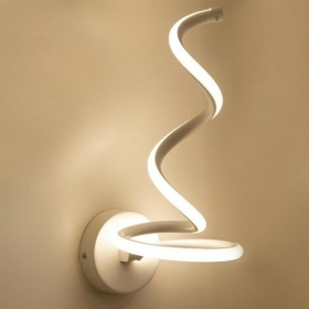 Modern LED wall lamp curved wall lamp 12W bedroom bedside light 230V