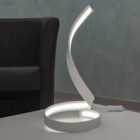 Modern curved light table desk