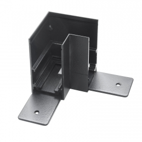 Corner connector joint angle support external track magnetic track