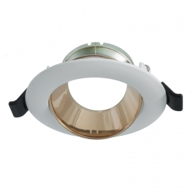 Round adjustable LED spotlight